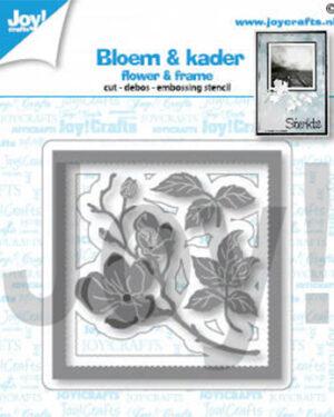 6002/1451 – Snij-debos-embosstencil – lijst/bloem