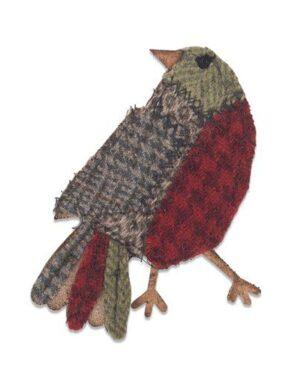 Sizzix Bigz Die – Patchwork Bird 664231 Tim Holtz