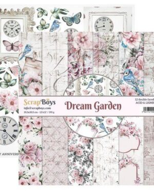 ScrapBoys Dream Garden paperset 12 vl+cut out elements