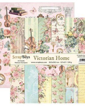 ScrapBoys Victorian Home paperset 12 vl+cut out elements