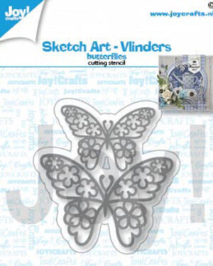 6002/1462 – Snijstencil- Sketch art-Vlinders