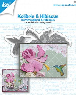 6002/1468 – Snij-debos-embosstansmal – Kolibrie & bloem