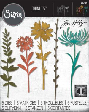 Sizzix Thinlits Die Set – 5PK Wildflower Stems #1 664163 Tim Holtz