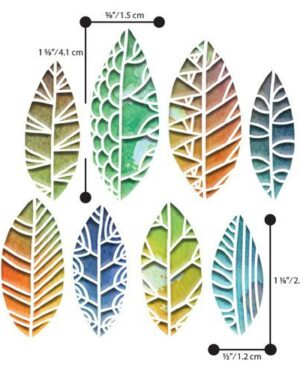 Sizzix Thinlits Die Set – 8PK Cut Out Leaves by Tim Holt 664431 Tim Holtz