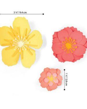 Sizzix Thinlits Die Set – 7PK Floral Blossom 664443 Jen Long
