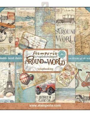 Around the world 12 x 12 inch