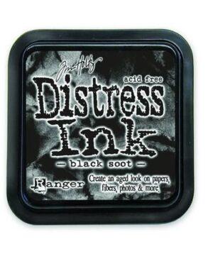 Ranger Distress Inks pad – black soot stamp pad TIM19541 Tim Holtz