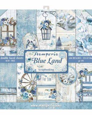 Blue Land 12 x 12 inch