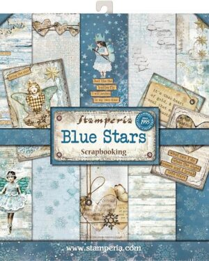 Blue Stars 12 x 12 inch
