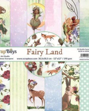 ScrapBoys Fairy Land paperset 12 vl+cut out elements