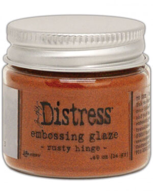 Embossing Glaze rusty hinge