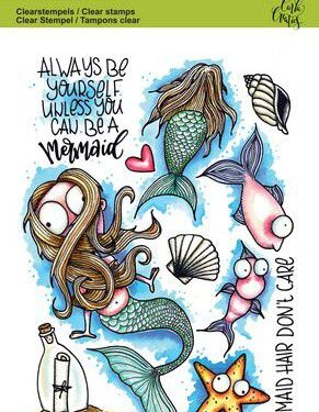 CraftEmotions clearstamps A6 – Mermaid 1 Carla Creaties