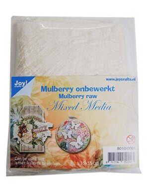 8010/0001 Mulberry boombastvezels voor oa. Mixed Media