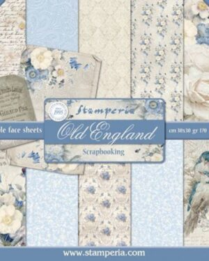 Stamperia New England 12×12 Inch Paper Pack (SBBL13)