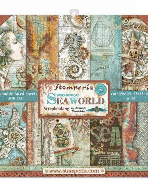 Stamperia Sea World 12×12 Inch Paper Pack (SBBL64)