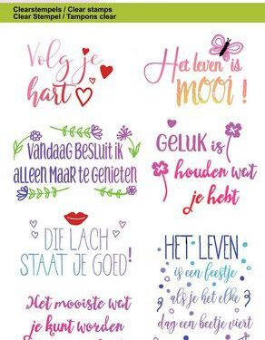 CraftEmotions clearstamps A6 – Quotes – volg je hart