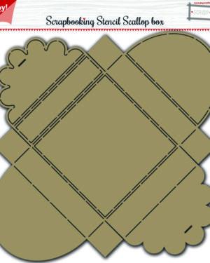 Stencil Scallop box