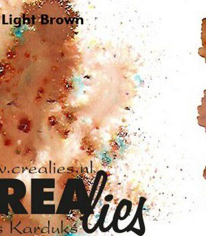 Crealies Lichtbruin