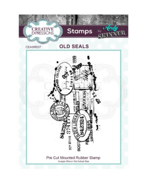 CEASR037 Creative Expressions • Old seals rubber stamp