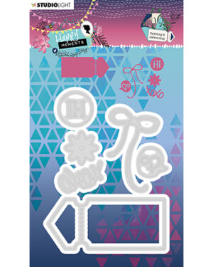 STENCILHM291 – Embossing Die 88x115mm, Happy Moments nr.291
