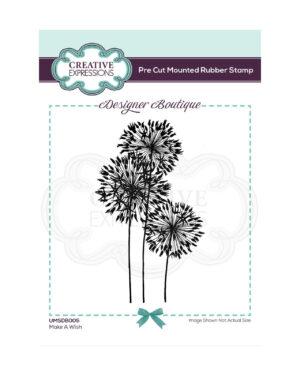 UMSDB005 Creative Expressions • Make a wish pre cut rubber stamp