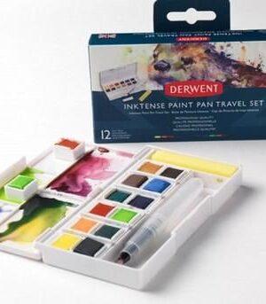 Derwent Inktense Paint Pan Travel Set#01 12 kleuren DIB2302636