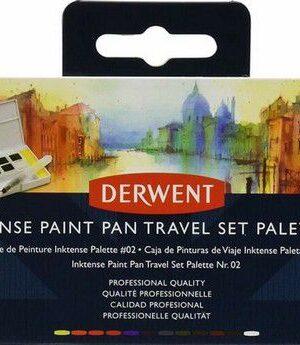 Derwent Inktense Paint Pan Travel Set #02 12 kleuren DIB2305544