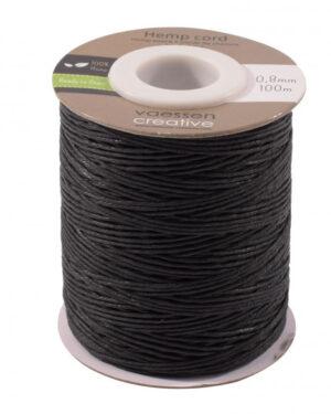 Vaessen Creative • Hemp cord zwart 0,8mm x 100m