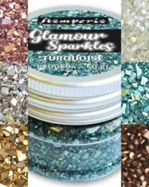 Stamperia Glamour sparkles zilver
