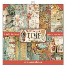 Stamperia Time is an Illusion 12×12 Inch Paper Pad (SBBL33)