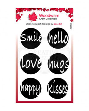 JGS719 Creative Expressions • Woodware clear singles circle words