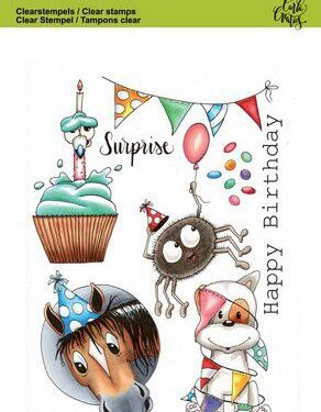 CraftEmotions clearstamps A6 – Party 1 Carla Creaties