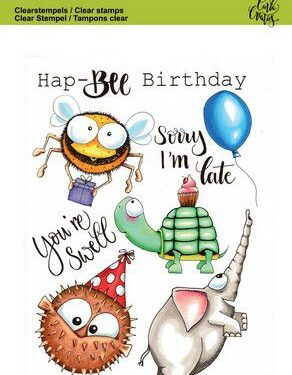 CraftEmotions clearstamps A6 – Party 2 Carla Creaties