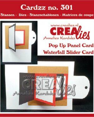 Crealies Cardzz Waterval schuifkaart + Omklap schuifkaart CLCZ301 fits on most cardsizes