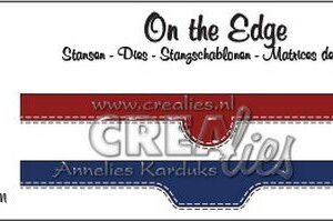 Crealies On the Edge no. 44 2x pocket openingen CLOTE44 2x 10,5 cm