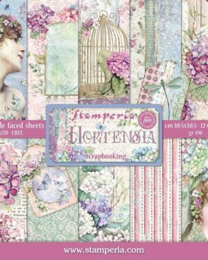 Stamperia Hortensia 12×12 Inch Paper Pack (SBBL72)