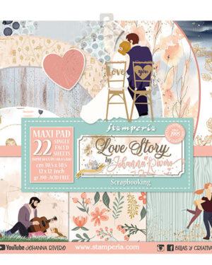 Stamperia Love Story 12×12 Inch Paper Pack (SBBXLB07)