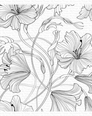 My Favorite Things Harmonious Hibiscus Background BG-127