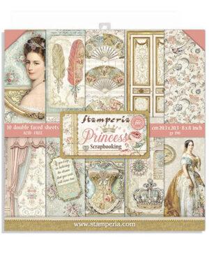 Stamperia Princess 8×8 Inch Paper Pack (SBBS18)