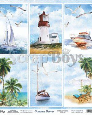 ScrapBoys Summer Breeze paper sheet DZ SUBR-06
