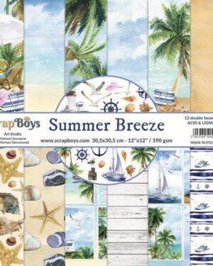 ScrapBoys Summer Breeze paperset 12 vl+cut out elements