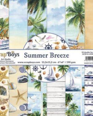 ScrapBoys Summer Breeze paperpad 24 vl+cut out elements