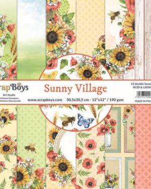ScrapBoys Sunny Village paperset 12 vl+cut out elements