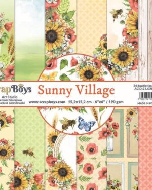 ScrapBoys Sunny Village paperpad 24 vl+cut out elements