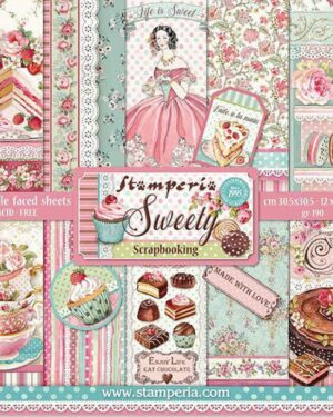 Stamperia Sweety 12×12 Inch Paper Pack (SBBL78)