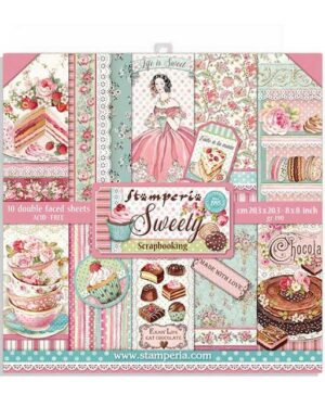 Stamperia Sweety 8×8 Inch Paper Pack (SBBS21)