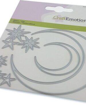CraftEmotions Die – elfen – maan en sterren Card 11x9cm – 82 mm