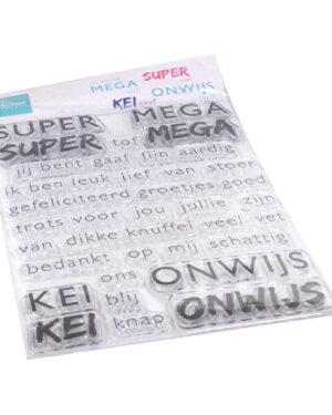 CS1066 – Clear Stamps – SUPER-MEGA-KEI-ONWIJS