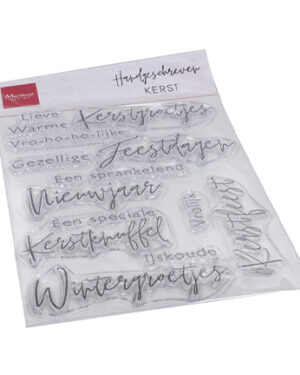 cs1067 – Clear Stamps – Handgeschreven – Kerst