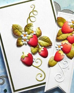 Elizabeth Craft Designs -The Paper Flower Collection – Strawberries